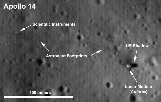 LRO - Apollo 14 landing site